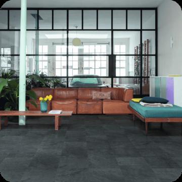 Винил Alpha Vinyl Tiles AVST40035 Black slate