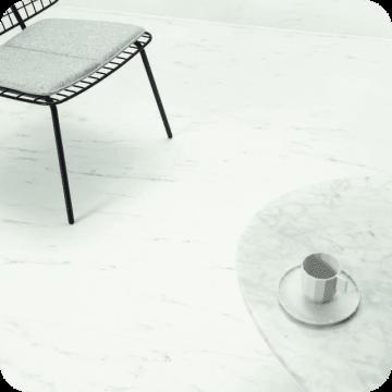 Винил Alpha Vinyl Tiles AVST40136 Marble Carrara White